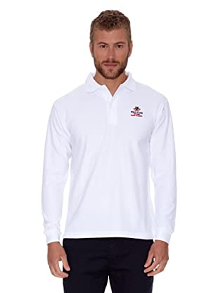 Polo Club Polo Regular Fit Liso (Blanco)