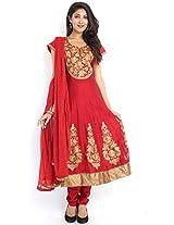 Salwar Kameez Anarkali suit Collections-Red-MK7122-VU-Georgette