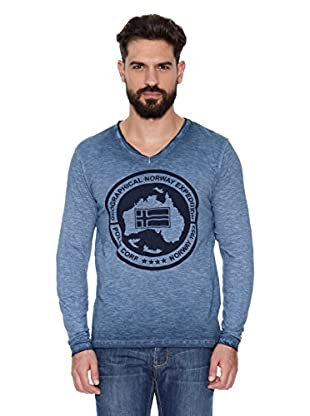 Geographical Norway Camiseta Manga Larga ML Jabo Ls Men 402 (Azul)