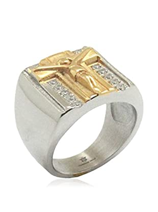 Blackjack Jewelry Ring Crusifix 18K