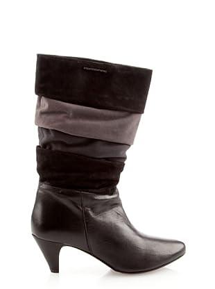 Fornarina PIFGU7577WVB2 - Botas de cuero para mujer (Negro)