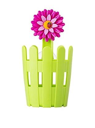 VIGAR Soporte con Accesorios para Cocina Flower Power Verde / Magenta