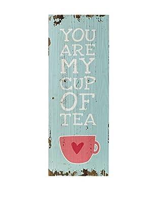Especial Deco Vertical Panel de Madera Tea Azul Claro