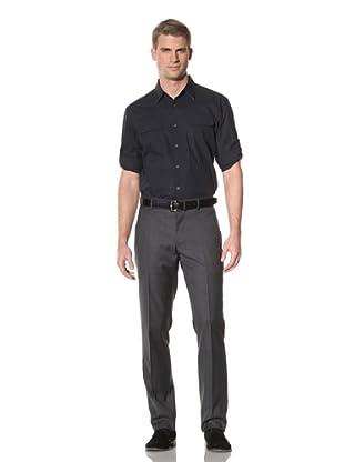 Elie Tahari Men's Palmer Technical Cotton Shirt (Navy)