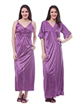 SeDeplace Women's Nighty- Robe Set ( Bridal Collection)