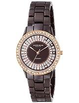 Akribos XXIV Women's AK509BR Ceramic Slim Quartz Watch