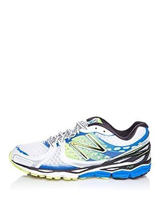 New Balance Zapatillas Running 1080 (Blanco / Azul / Amarillo)