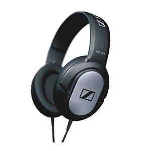 Sennheiser HD201 Lightweight Over-Ear Binaural Headphone (Black)