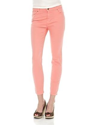 Cortefiel Pantalón 5 Bols Slim Tinte Prenda (Rosa)