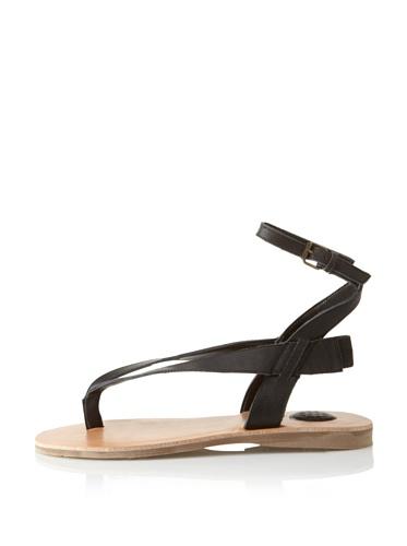 MaxStudio Women's Limo Ankle-Strap Thong Sandal (Black)