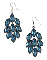 Crystal Studded Statement Dangle Earrings