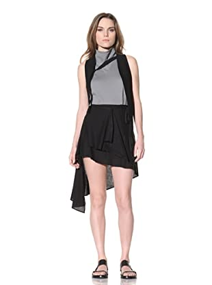 Ann Demeulemeester Women's Asymmetrical Drape Skirt (Black)