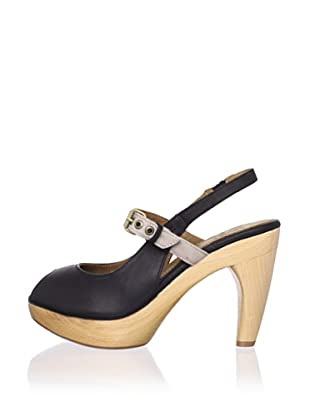 J. Shoes Women's Carnival Novelty Pump (Black/Soft Grey)