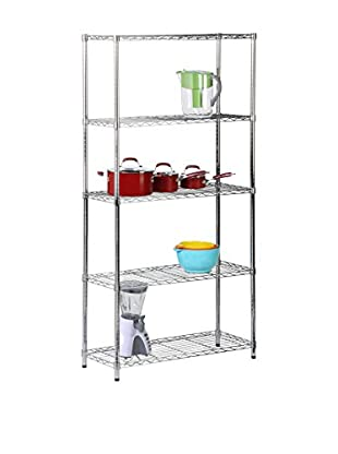 Honey-Can-Do 5-Tier Chrome Storage Shelves