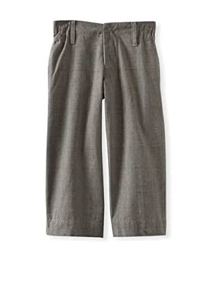 Blu Pony Vintage Boy's Timeless Classic Straight Leg Pants (Jason's Favorite (Grey Plaid))