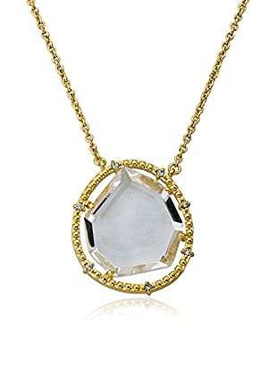 Riccova Sliced Glass Necklace with CZs