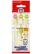 Pigeon Baby Training Toothbrush Lesson123 7M+ - Pack of 1, F
