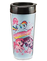 Vandor 42051 My Little Pony 16 oz Plastic Travel Mug, Mutlicolor
