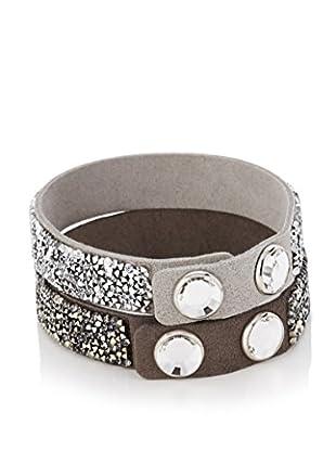 Swarovski Armband-Set  grau