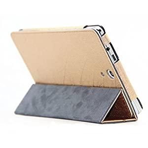 Elite Premium Flip Case Cover for HP Slate 7 Voice Tablet Tab (Exclusive Gold) (Magnetic Closure)