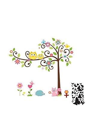 Ambiance Sticker Wandtattoo Tree And Owl On A Tree