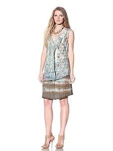 Gregory Parkinson Women's Semi-Sheer Silk Cotton Top (Light Jade)