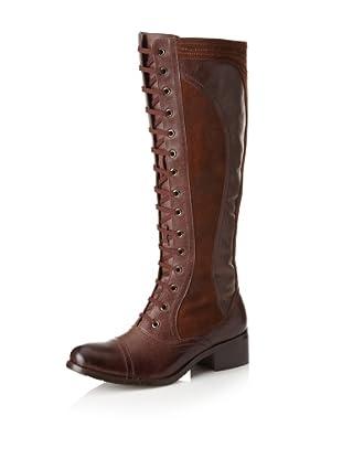 Chocolat Blu Women's Najwa Lace-Up Long Boot (Brown)