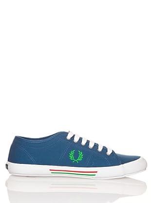 Fred Perry VINTAGE TENNIS CANVAS B708 - Zapatillas para hombre (Azul)