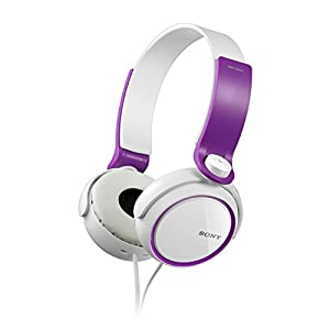 Sony MDR-XB250 On-Ear EXTRA BASS Headphones (Violet)