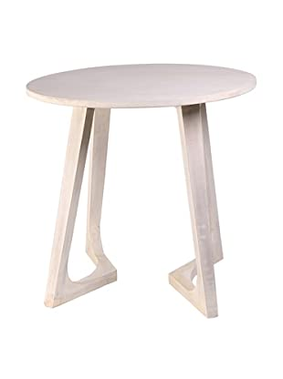 Jamie Young Haven Bent-Leg Side Table, Whitewash
