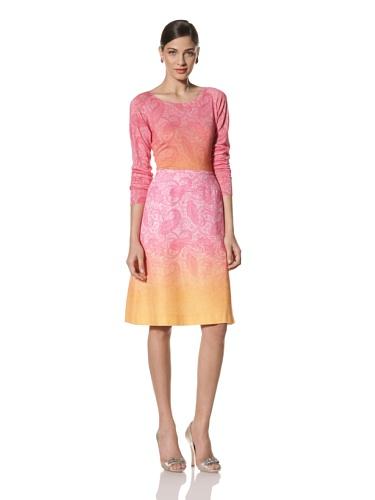 Jonathan Saunders Women's Ebury Paisley A-Line Skirt (Pink/Magenta/Apricot)