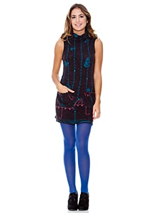 LAVAND Vestido Big Dropes (Azul Oscuro)