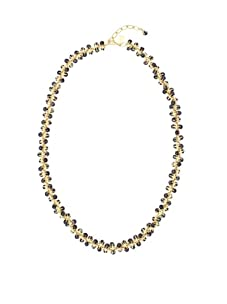 Tuleste Market Marbled Claw Necklace, Gold/Charcoal