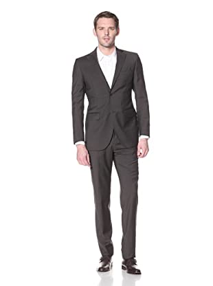 Lubiam Studio Men's 2-Button Suit (Dark Brown)