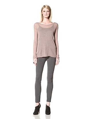 Halston Heritage Women's Long Sleeve Sweater (Mauve)