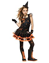 Big Girls Sparkle Star Witch Costume Small (4-6)