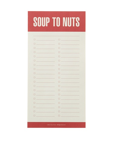 Bobs Your Uncle Set of 4 Soup to Nuts Pad