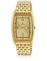 1640Ym02 Golden Analog Watch