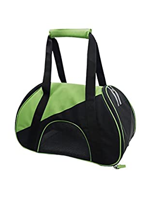 Pet Life Airline Approved Zip-N-Go Contoured Pet Carrier, Green/Black, Small