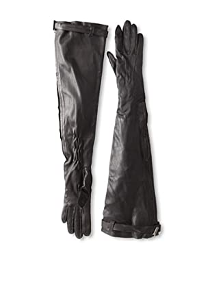 Ann Demeulemeester Women's Long Zip Gloves (Black)