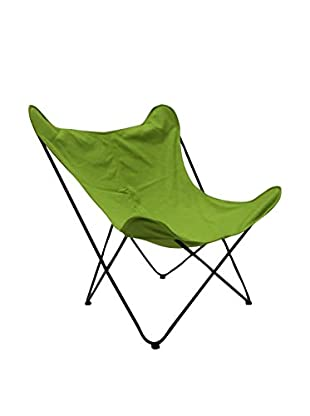 LO+DEMODA Stuhl 2er Set Butterfly Canvas Verde