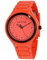 Activa By Invicta Unisex AA200-007 Red Silver Dial Red Plastic Watch