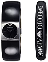 Emporio Armani End-of-Season Analog Black Dial Women's Watch - AR7379