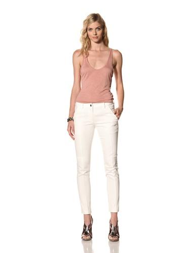 Thakoon Addition Women's Seamed Denim Pant (White)