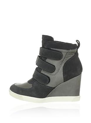 Buffalo London Sneaker Suede Garda (Grau)