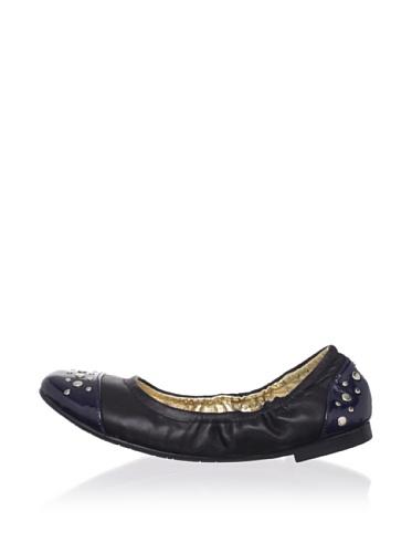 Olivia D. by J. Loren Kid's Margarita Dress Shoe (Black/Navy)
