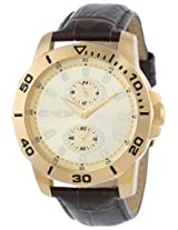 I By Invicta Men's 43663-004 Gold Dial Brown leather Watch