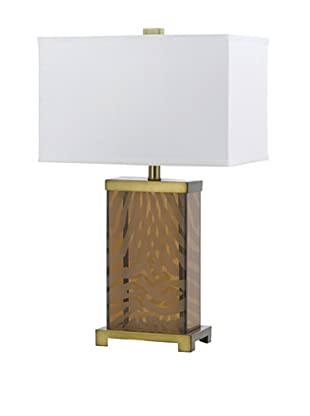 Candice Olson Lighting Out of Africa Table Lamp, Amber