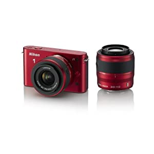 Nikon 1 J1 | With D-ZOOM KIT | 10-30mm110mm| Red