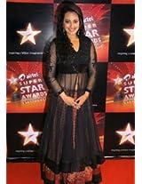 Ethnic Trend Net And Banarasi Bollywood Replica Lehenga - 1031 (Black)